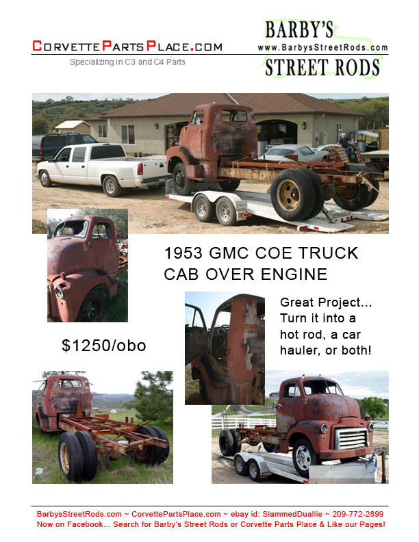 Cab Over Engine) TRUCK for Sale, Hot Rod Project, Car Hauler, or both