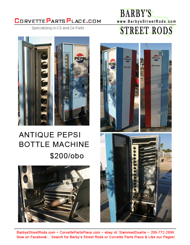 Vintage Pepsi Vending Machines for Sale